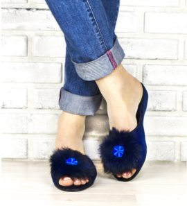 Женские домашние тапочки  INBLU RR-D1 синие